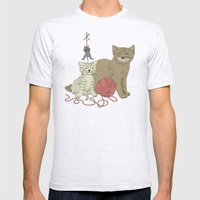 Naughty Cats Mens Fitted Tee Ash Grey SMALL