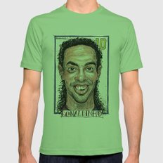 RONALDINHO Mens Fitted Tee Grass SMALL