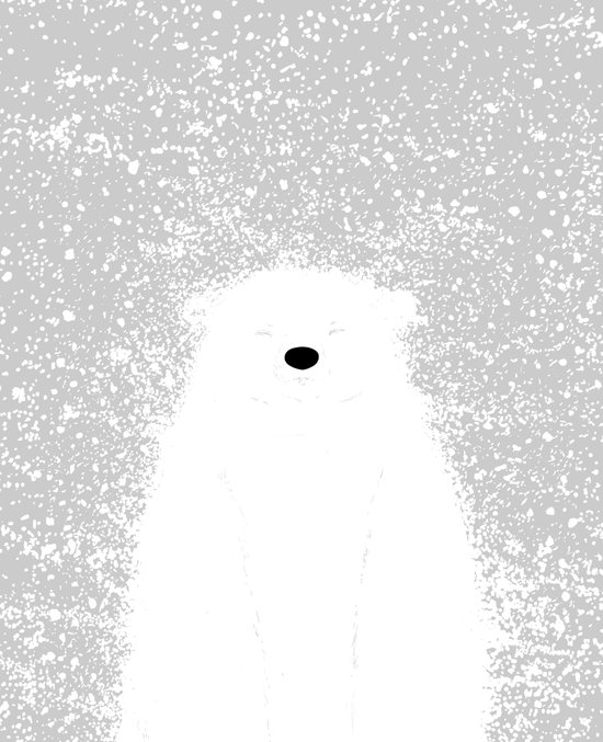 Its A Polar Bear Blinking In A Blizzard Art Print