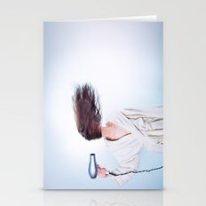 hair comic wind 4 Stationery Cards