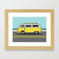 Surf Series   The Search Framed Art Print