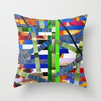 Agnes (stripes 16) Throw Pillow