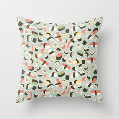 Yummy Sushi! Throw Pillow