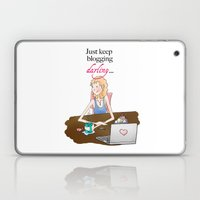 Just Keep Blogging, Illustration Laptop & iPad Skin