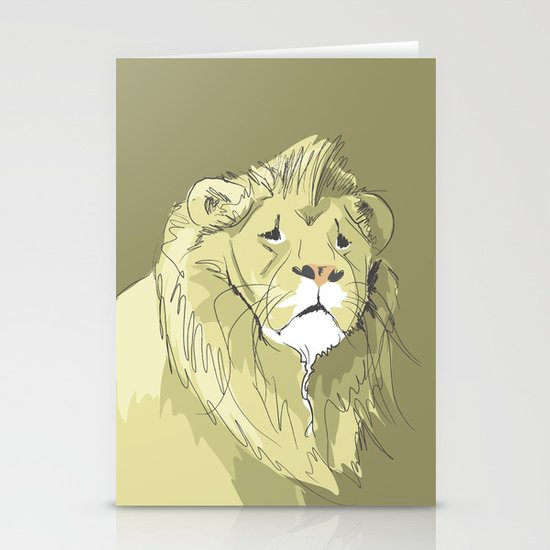 The Sad Lion Stationery Card