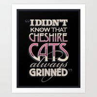 Cheshire Cats Art Print