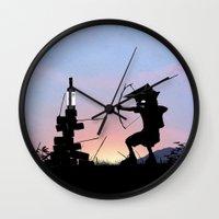Green Arrow Kid Wall Clock
