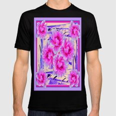 Tropical Fuchsia-Pink-Li… Mens Fitted Tee Black SMALL