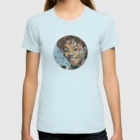 African woman Womens Fitted Tee Light Blue SMALL