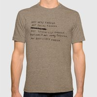 NOT ENOUGH Mens Fitted Tee Tri-Coffee SMALL