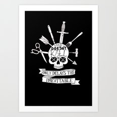 What Doesn't Kill Me - Black Art Print