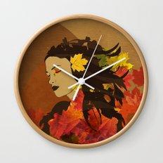 Portrait in Autumn... Wall Clock