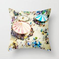 Coney Island Throw Pillow
