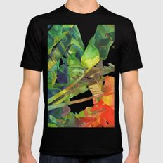 Bananas leaves SMALL Black Mens Fitted Tee