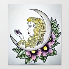 Dirty - Moon Canvas Print