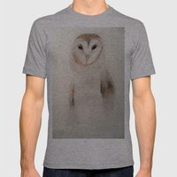 Owl in the fog Mens Fitted Tee Athletic Grey SMALL
