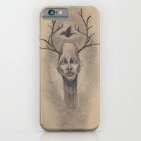 Graphite Antler Drawing iPhone 6 Slim Case