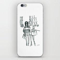 Brush Pen Fashion Illustration - Friends iPhone & iPod Skin