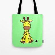 Little Giraffe Tote Bag