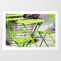 Lime Green Situation In … Art Print