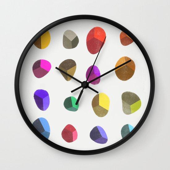 Painted Pebbles 2 Wall Clock