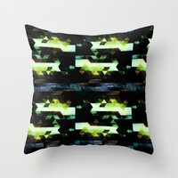 Trees Triangles Throw Pillow