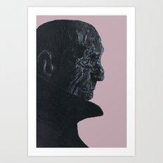 Pink old man Art Print