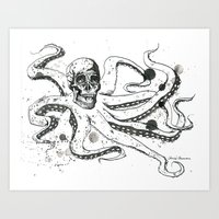The Octoskull Art Print