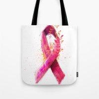 Breast Cancer Ribbon Tote Bag