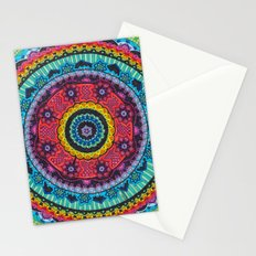 Rainbow Mandala Stationery Cards