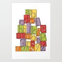 ABC Block Art Print