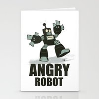 Angry Robot Stationery Cards