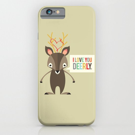 I Love You Deerly iPhone & iPod Case