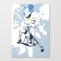 Scout Squirt Canvas Print