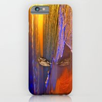 iPhone & iPod Case featuring Enjoy the moment.  Sunset over  Sanibel Island, Florida by LudaNayvelt