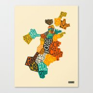 BOSTON NEIGHBORHOODS Canvas Print