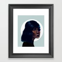 Mod Monocle Framed Art Print