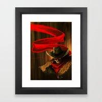 Skull Cowboy Framed Art Print