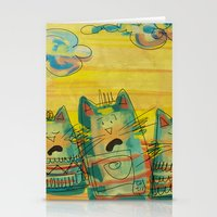 Singing Cats Stationery Cards