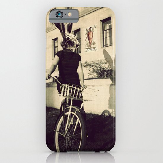 Bunny on Bicycle iPhone & iPod Case