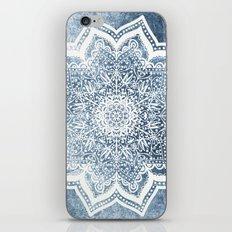 BLUEISH SEA FLOWER MANDALA iPhone & iPod Skin