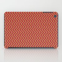 Chevron - Blue Orange Re… iPad Case