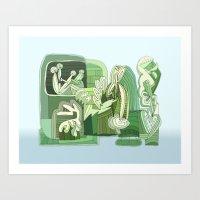 Abstsract Drawing 9510 Art Print