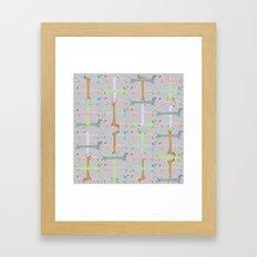 Going Dachs Framed Art Print