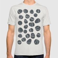 Pebbles Mens Fitted Tee Silver SMALL
