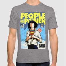 People Have The Power Mens Fitted Tee Tri-Grey SMALL