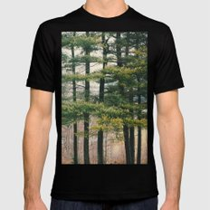 Evergreen  SMALL Black Mens Fitted Tee