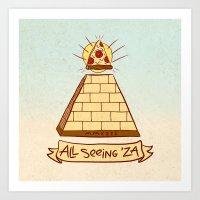 THE ALL SEEING 'ZA Art Print