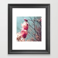 Japanese Magnolia Framed Art Print