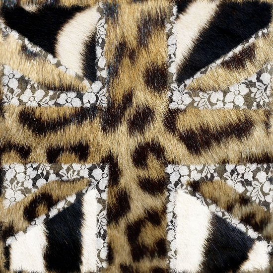 Wild   Hipster leopard Print Zebra UK Union Jack Flag  Canvas Print
